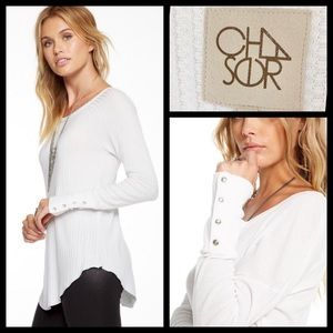 Chaser Waffle Knit Thermal Henley Shirt
